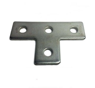 "(4627S1) P1031 StaInless Steel 4-Hole Flat ""T"" Splice Plate for Unistrut Channel"