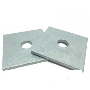 "(Qty 100) 1/2"" x 3"" x .25(approximately) Square Bearing Plate Washer Galvanized"