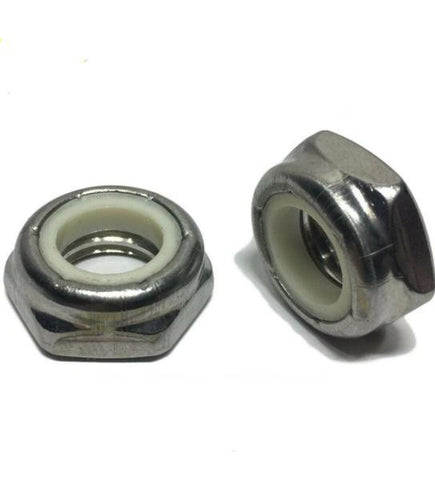 "1/2""-13 Hex Jam Nylon Insert Lock nut Nylock StaInless Steel Half Height"