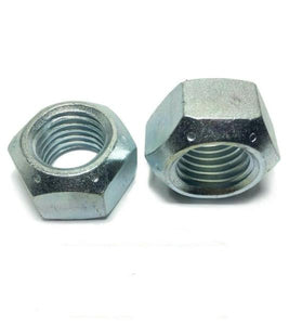 (Qty 10) 9/16-12 All Metal Top Crimping Cone Lock Nut Grade 8 / C Zinc Plated