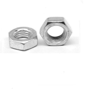 (Qty 25) 7/8-9 Hex Jam (Thin) Nuts Zinc Plated Low Carbon Grade 2