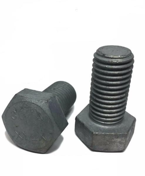 "1/4""-20 x 2"" Hex Cap Screw Hot Dipped Galvanized Hex Bolt Partial Thread"