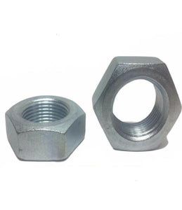 (Qty 25) 7/8-14 Fine Hex Jam (Thin) Nuts Zinc Plated Low Carbon Grade 2