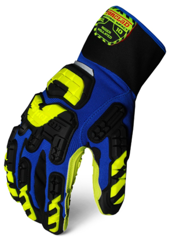 IronClad VIB-RIGI Vibram Rigger Insulated Glove (Blue/Yellow)