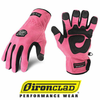IronClad Tuff Chix SMTC Cold Weather Women's Work Gloves Pink