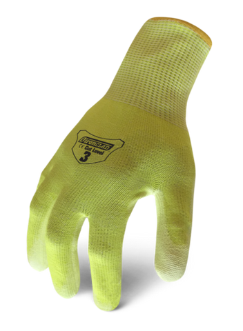 12 PAIR / DOZEN IronClad IKC3-HSY A3 Cut Knit Gloves Yellow