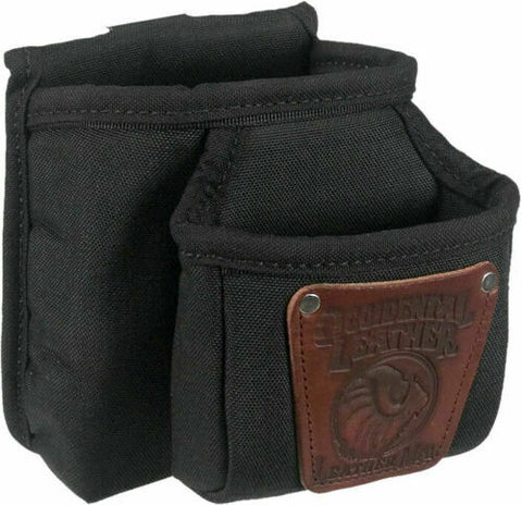 "Occidental Leather 9502 5"" x 7"" Industrial Nylon Double Clip-On Pouch, Black"