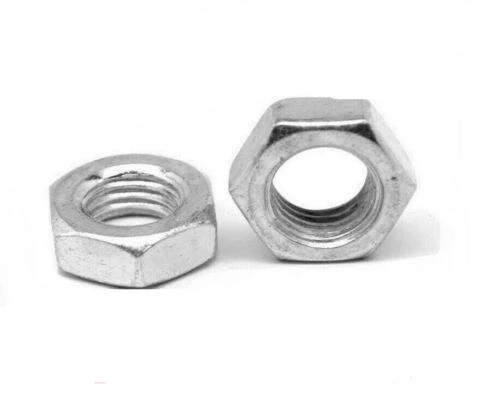 "(Qty 1,100) 7/16""-14 Hex Jam (Thin) Nuts Zinc Plated Low Carbon Grade 2"