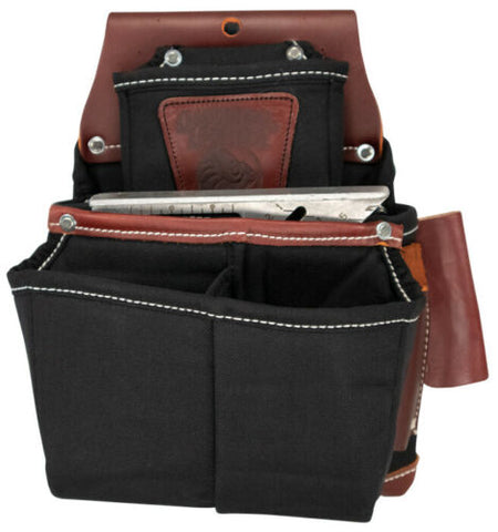 Image of Occidental Leather B8064 Black Oxy Lights™ Fastener Bag with Double Outer Bag