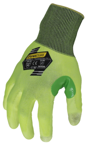 (12 PAIR) IronClad KKC2PU-Y Command Knit Gloves Nitrile Yellow