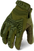 IronClad IEXT-IODG Command Tactical Impact Green Touchscreen Gloves