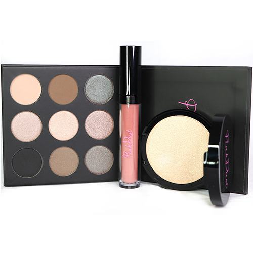 Smoked Palette, Nude Mood Lipstain, & Glisten Highlighter Gift Set