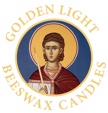 Golden Light Beeswax Candles