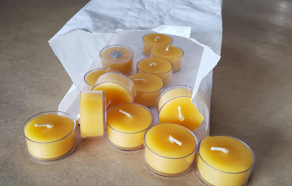 Bakers dozen tealights (13) Classic or Raw (with reusable glass container)