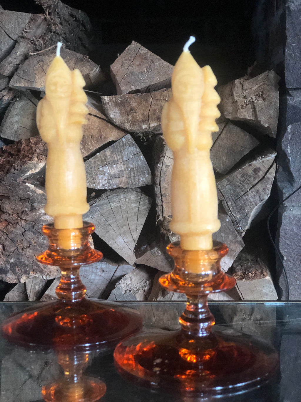 Saint Nick Carved Taper/Pillar Candle (1)
