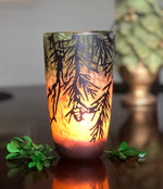 Glass Conifer Tealight Holder