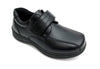 Boys Black Velcro Shoes - Boston School Uniform