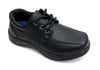 Boys Black Lace-Up Shoes - Boston School Uniform