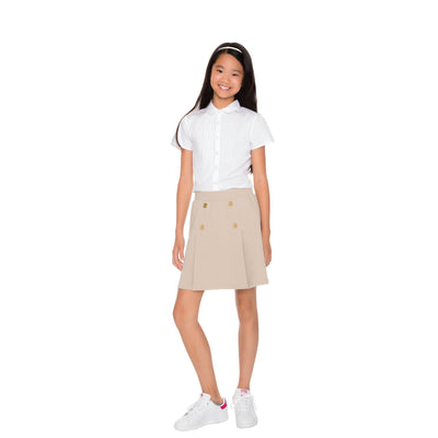 Stretch Pull-On Pleat Scooter - Boston School Uniform