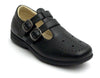 Girls Black Double Strap Shoes - Boston School Uniform