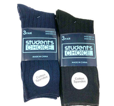 Students Choice - Boys 3-Pack Uniform Dress Sock - Boston School Uniform