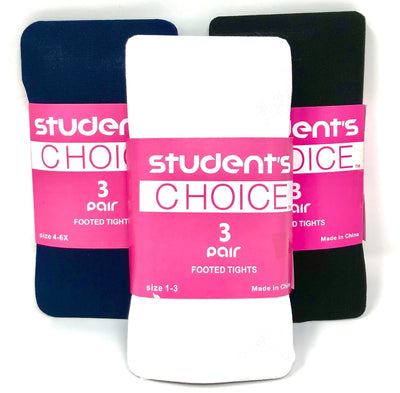 Students Choice - Girls 3-Pack Tights - Boston School Uniform