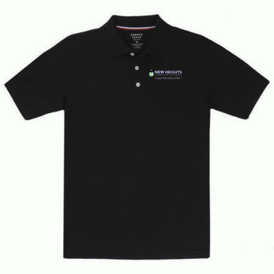 New Heights Charter High School Youth Short Sleeve Polo - Screen Printed - Boston School Uniform