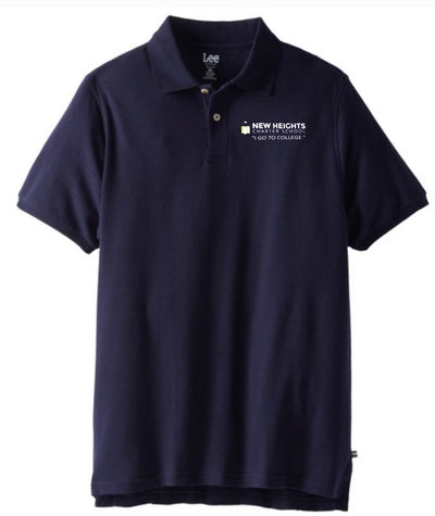 New Heights Charter High School Adult Short Sleeve Polo - Screen Printed - Boston School Uniform