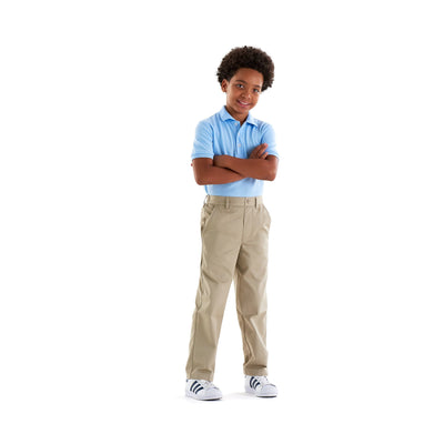 Boys Relaxed Fit Pull-On Twill Pants - Boston School Uniform
