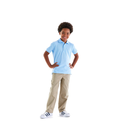 Short Sleeve Pique Polo - Boston School Uniform