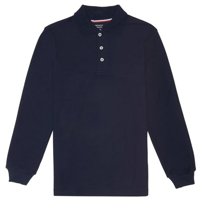 Long Sleeve Pique Polo - Boston School Uniform