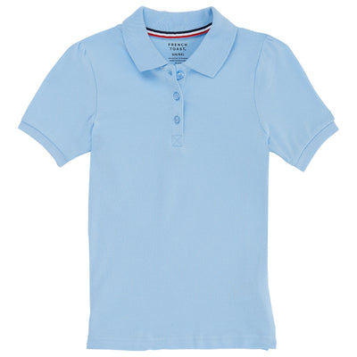 Juniors Short Sleeve Stretch Pique Polo