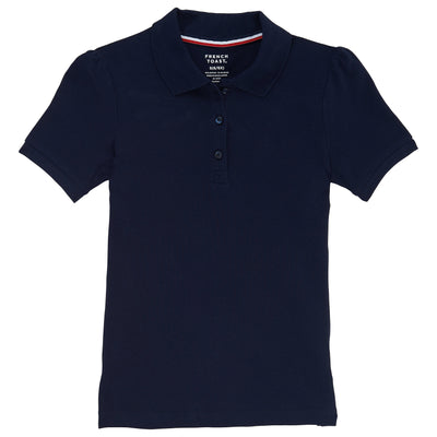 Juniors Short Sleeve Stretch Pique Polo - Boston School Uniform