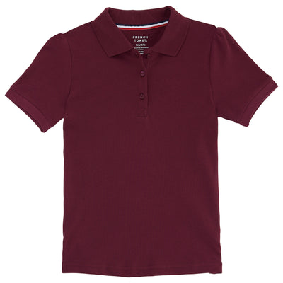 Girls Short Sleeve Stretch Pique Polo - Boston School Uniform