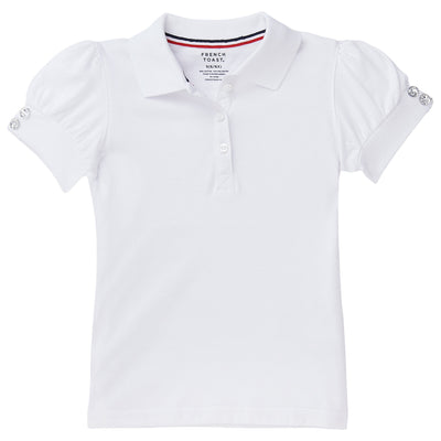 Girls Short Sleeve Peter Pan Collar Polo
