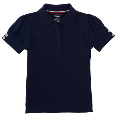 Short Sleeve Puff Sleeve Polo - Boston School Uniform