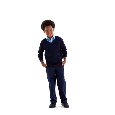 Boys Slim Fit Twill Pants - Boston School Uniform