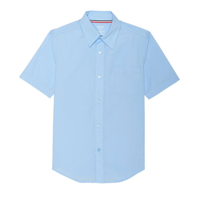 Boys Short Sleeve Poplin Dress Shirt - Boston School Uniform