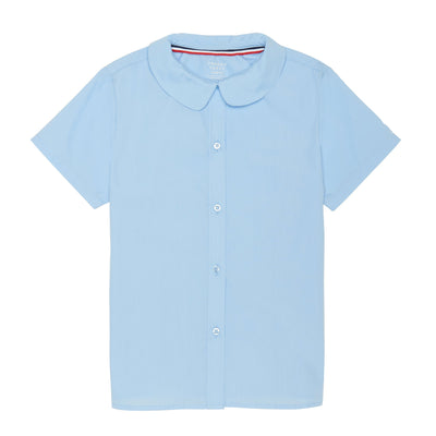 Short Sleeve Modern Peter Pan Collar Blouse - Boston School Uniform