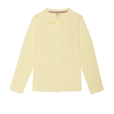 Long Sleeve Modern Peter Pan Collar Blouse - Boston School Uniform