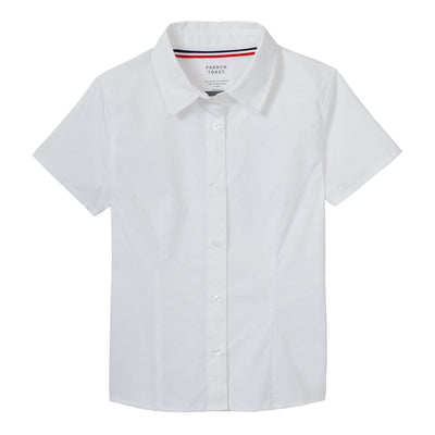 Short Sleeve Stretch Blouse - Boston School Uniform