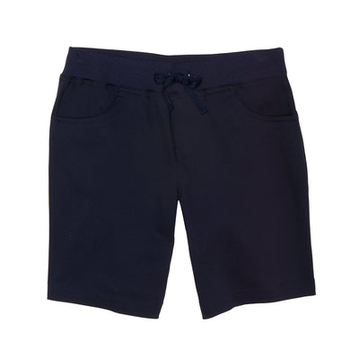 Girls Stretch Pull-On Tie Front Shorts - Boston School Uniform