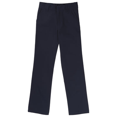 Boys Relaxed Fit Twill Pants - Navy - Boston School Uniform