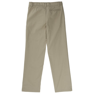Boys Relaxed Fit Twill Pants - Khaki - Boston School Uniform