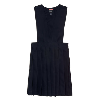 V-Neck Pleated Jumper - Navy - Boston School Uniform