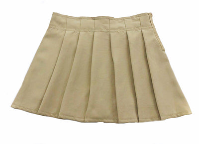Girls Pleated Scooter - Khaki - Boston School Uniform