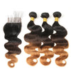 Ombre Weaves 3 Tone Non-Remy Hair Extensions