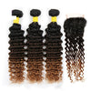 Indian Deep Wave Human Hair Extensions