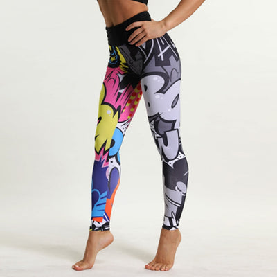 Cartoon Print Sporting Leggings Women