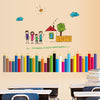 Colored Pencils Wall Stickers